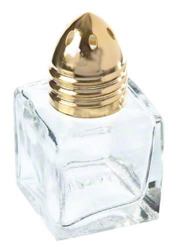 - Update International (SK-CUG) 1/2 oz Square Shakers w/ Gold Top [Set of 12]