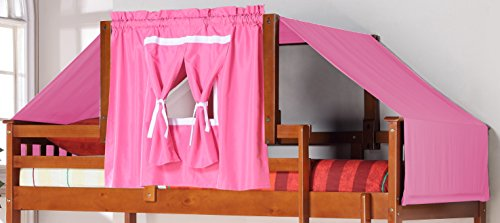 Donco Kids 755-E-Pink Tent Kit Accessory with Fabric, Light Espresso/Pink