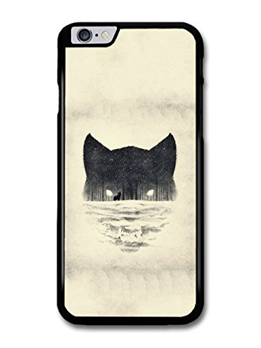Wolf Face Snow Forest Black and White Print Wild Animal Design case for iPhone 6 Plus 6S Plus
