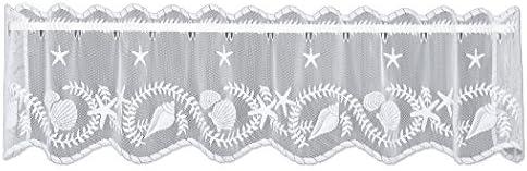 Heritage Lace White 60 X14 Tidepool Valance