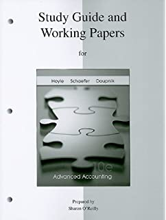 Amazon advanced accounting 9780073379456 joe ben hoyle study guide working papers to accompany advanced accounting fandeluxe Gallery