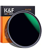 K&F Concept 67MM ND1000 Filters, 10 Stops Neutral Density Lens Filter ND 1000 Filter Multi-Coated Optical Glass Grey for DSLR Camera