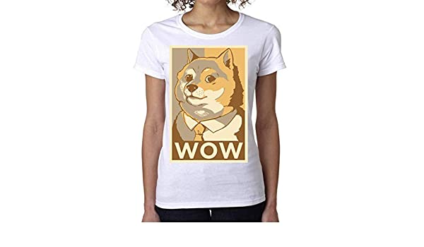 Nomorefamous Doge Dog Poster Wow Womens T-Shirt Camiseta Mujer Tshirt: Amazon.es: Ropa y accesorios