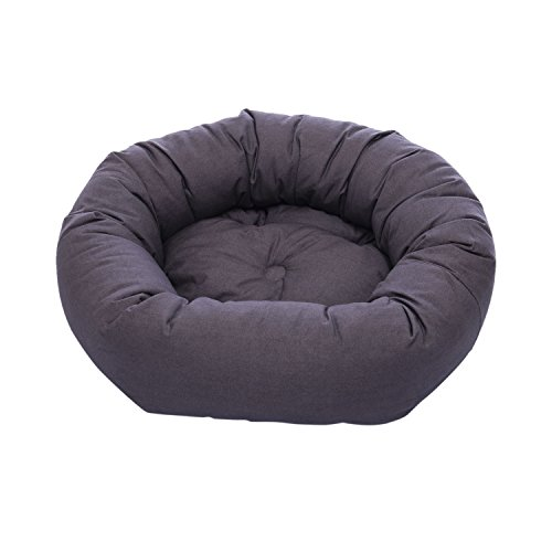Dog Gone Smart Repelz-It Donut Bed, 27 Inches, Pebble Grey
