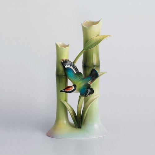 Franz Porcelain Bamboo Song Bird bud vase Franz Fine Porcelain