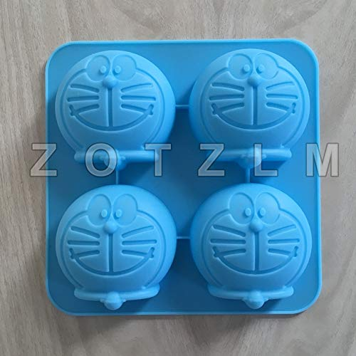 1 piece 1 Piece 4 Cartoon Cat Cute Doraemon Shapes Silicone Cake Mold Fondant Cookie Soap Biscuit Pudding Mould Pastry Tools GJD041 -