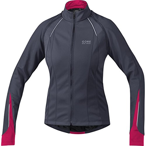 Windstopper Womans (Gore Bike Wear 3 in 1 Women's Soft Shell Road Cycling Jacket, GORE WINDSTOPPER, PHANTOM LADY 2.0 WS SO Jacket, Size 34, Graphite Grey/Jazzy Pink, JWPHAL)
