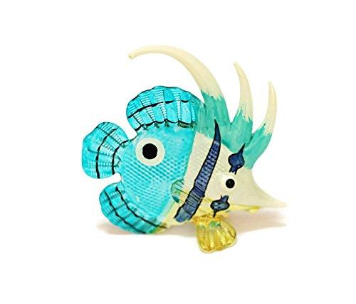 Coastal Style MINIATURE HAND BLOWN Art GLASS Fish No. 130 FIGURINE Collection