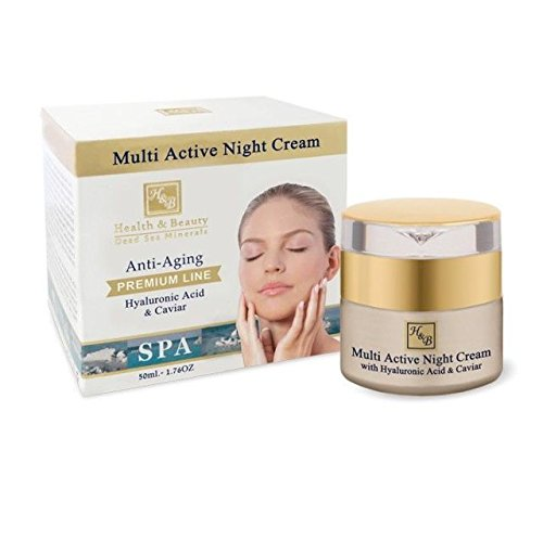 H&B Dead Sea Premium Line Multi Active Night Cream With Hyaluronic Acid & Caviar - Treatment Caviar Rejuvenation