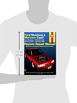 ford mustang mercury capri 79 93 haynes repair manuals haynes rh amazon com 2014 Ford Mustang Owners Manual Ford Mustang Radiator