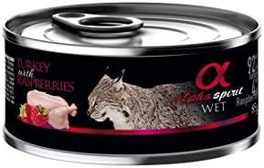 Alpha Spirit Feline Adult Pavo Frambuesas Lata 85Gr 85 g