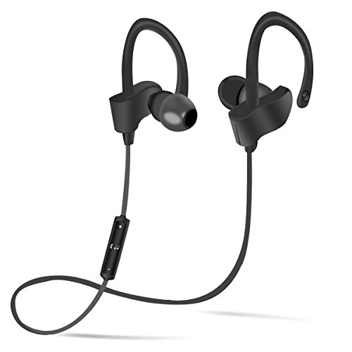 bluetooth headphones gaosa sport wireless in earphones with earhook 4 1 earbuds with microphone. Black Bedroom Furniture Sets. Home Design Ideas
