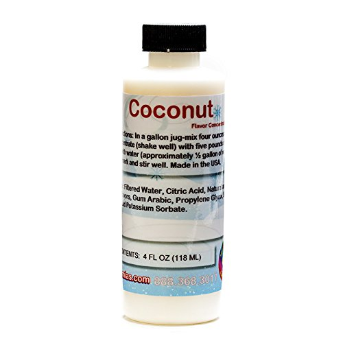 (Coconut Shaved Ice and Snow Cone Flavor Concentrate 4 Fl Ounce Size)