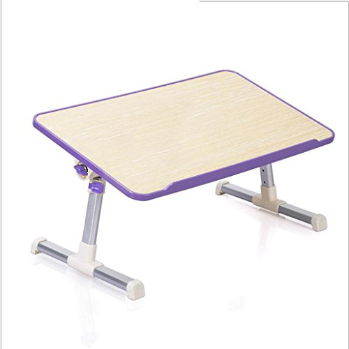 GFL Laptop Tables Bed Dormitory Desk Simple Table Folding Home Desks(L60cmW30cmH25.5) Computer Tables (Color : Purple) by GFL