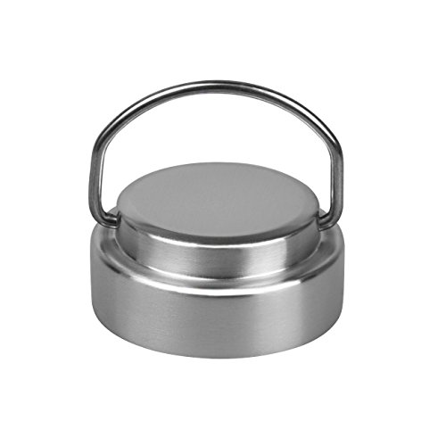 Stainless Steel Lid for Hydro Flask, Golo Sliver Flat Wide Mouth Flip Up Cap Lids with Carry Handle, Fit for 18 oz, 40 oz and 64 oz Wide Mouth Sports Bottles by GOLO