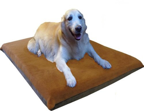 ehomegoods 47X29 X4 Sudan Brown Orthopedic Waterproof Memory Foam Pet Pad Bed for Extra Large dog crate size 48