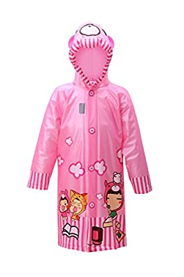 lldeal Kids Rain Jacket Waterproof Hooded Coat Outwear Raincoat