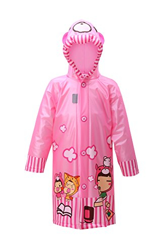 lldeal Kids Rain Jacket Waterproof Hooded Coat Outwear Child Raincoat