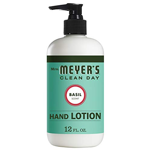 Refill Extract Moisturizer Pump Skin - Mrs. Meyer's Hand Lotion, Basil, 12 OZ