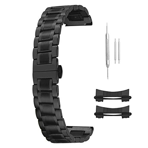 12mm 14 15 16 17 18mm 19mm 20mm 21mm 22mm 23mm 24mm Stainless Steel Watch Bands Black Replacement Straps