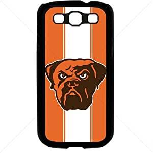 NFL American football Cleveland Browns Fans Samsung Galaxy S3 SIII I9300 TPU Soft Black or White case (Black)