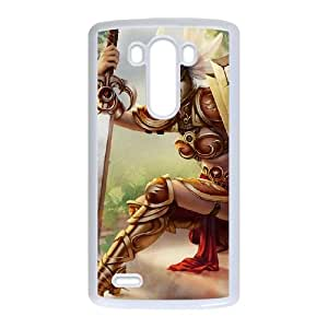 LG G3 Cell Phone Case White League of Legends Valkyrie Leona OIW0430999