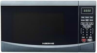 Farberware FMO09BBTCFA 0.9-cu.ft. 900W Microwave Oven, Carbon Fiber