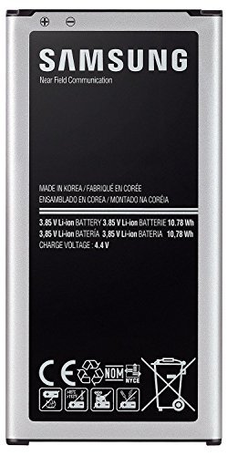 Samsung Galaxy S5 OEM Original Standard Li-ion Battery 2800mAh for Galaxy S5 - Non-Retail Packaging - Black/Silver -