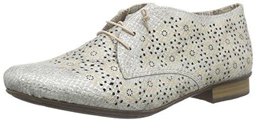 Ice Cordones Rieker para Derby 51946 81 Blanco Mujer Zapatos de HwAWvpxq