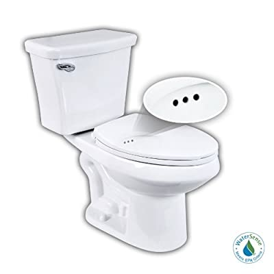 Penguin Toilets 524 1.28 GPF Single Flush Elongated Toilet with Overflow Protection (2 Piece), White