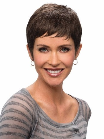Search : YX African American Synthetic wigs for women Cute pixie Cut Short Brown Afro Wig with Bangs