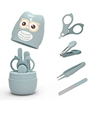 ROCCED Baby Nail Kit, 4-in-1 Baby Nail Care Set with Cute Case, Baby Nail Clipper, Scissors, Nail File & Tweezer, Baby Manicure Kit and Pedicure kit for Newborn, Infant, Toddler, Kids