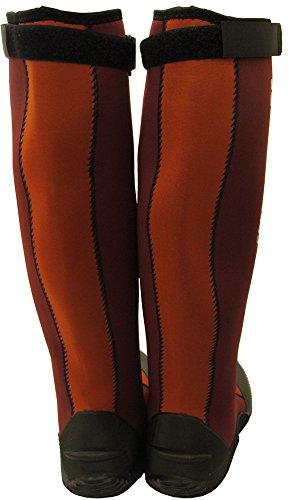 Stivali Da Giardino Master Verde Impermeabili Con Suola In Gomma, Rosso Pieghevole