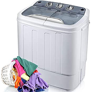 merax portable washing machine mini compact twin tub washer machine with wash and. Black Bedroom Furniture Sets. Home Design Ideas