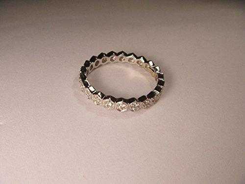 Elegant 18K White Gold Diamond Eternity Wedding Band Ring (Diamond Ring 18k Eternity Gold)