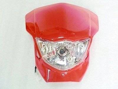 BADASS SHARKS Streetfighter Sport Lamp Red Headlight Fairing Front Lights for HONDA CR XR CBR