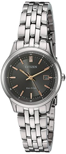 Citizen Women's 'Eco-Drive Bracelet' Quartz Stainless Steel Watch, Color:Silver-Toned (Model: EW2400-58H) Citizen Silver Tone Bracelet