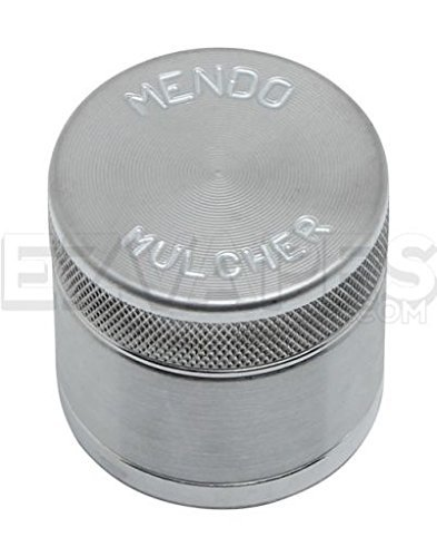 Mendo Mulcher Billet Aluminum 4 Piece Grinder with Screen (1.75 Inch (Mini), Aluminum)
