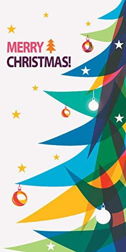 Custom Christmas Street Pole Banner Vinyl Graphic - Printed On Both Sides (30X60)