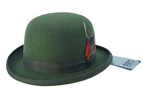 Haute For Diva Men's Detachable Feather Bowler Hat