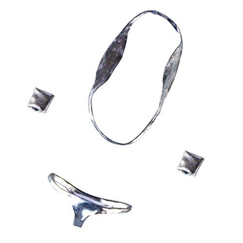MonkeyJack 1/6 Scale One-piece Bra Briefs Wristbands Bikini Set for 12 inch Medium Bust Figure Clothes