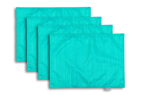 CaliTime Washable Placemats Reversible Turquoise product image