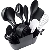 Mainstays 21-Piece Kitchen Utensils Set with Caddy (Black)