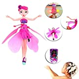 Induction Flying Fairy Doll, Womdee Infrared Induction Control RC Aircraft - USB Charging Flying Princess Doll for Girl Kids Over 6 Years Old(Gift Box)
