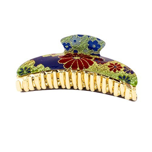 Appliances Moon Blue (DealMux Flower Pattern Crescent Moon Shaped Plastic 20 Claws Barrette Hair Clip Gold Tone Blue Red)