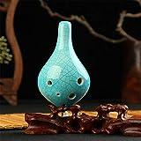 Sala-Fnt - 6 Holes Porcelain Pottery Ocarina of Time Ceramic Alto C AC Flute Fruits Instrument Crack Orff Instrument
