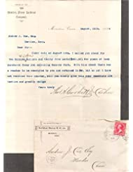 Meriden Horse RR Co letter about land purchase CT 1894