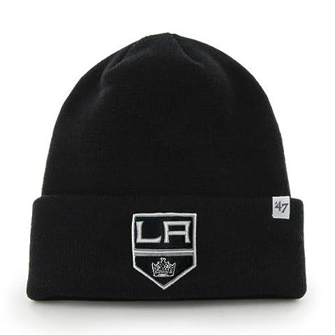 NHL Los Angeles Kings '47 Raised Cuff Knit Hat, Black, One Size (Los Angeles Kings Hat 47)