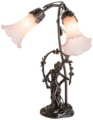 Meyda Tiffany 68596 Trellis Girl Lily 2 Light Accent Lamp, 17