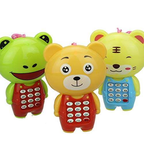 (BeesClover Baby Kids Cartoon Animal Musical Mobile Phone Toy Cell Phone Simulator Toy Gift for Children)